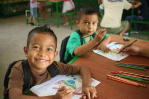 Children in a learning center where volunteers help in Granada, Nicaragua